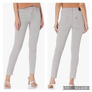 Levi's 721 high rise skinny jeans light grey 00 24